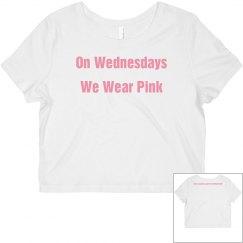 Wednesday Pink crop top