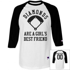 Diamonds Are A Girls Best Friend Custom Shirt WIth Name
