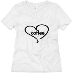 Love Coffee - wmn wht V