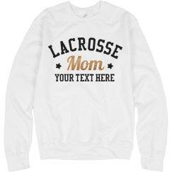 Lacrosse Mom Metallic Sweatshirt