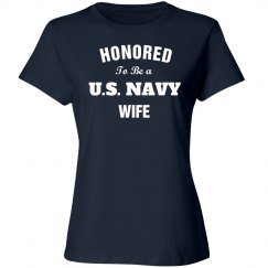 Honored to be a navy wife