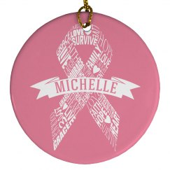 A Holiday of Hope Breast Cancer Support Ornament Gift