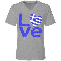 Distressed Greek LOVE
