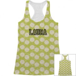 Olive All Over Print Tank Top