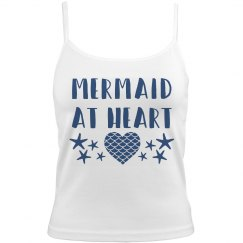 Mermaid At Heart Stars and Heart Woman's Camisole