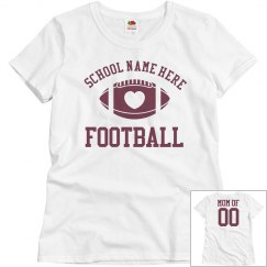 Inexpensive Budget Priced Custom Football Mom Shirt
