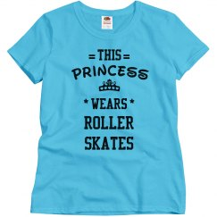 This princess wears roller skates