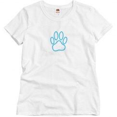 Blue Neon Dog Paw