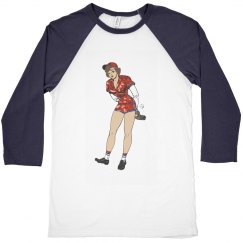 brunette baseball pin up
