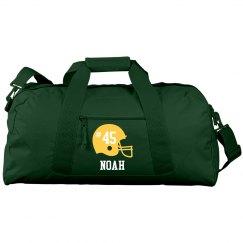 Custom football duffel bag
