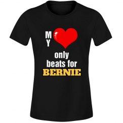 Heart beats for Bernie