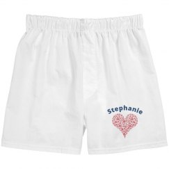 Valentine Hearts Boxers for Her