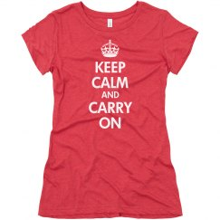 Keep Calm Carry On Tri