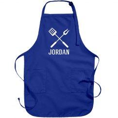 Jordan personalized apron