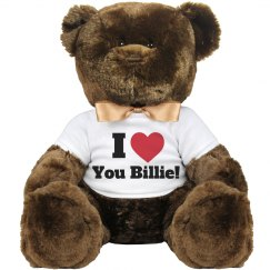 I love you Billie Valentine Bear