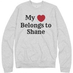 Heart belongs to shane