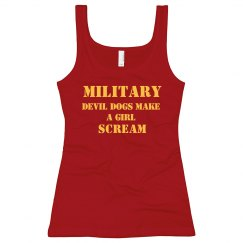 Girls Scream Military Man