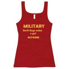 Girls Scream Military Man