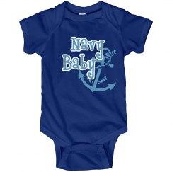 Navy Baby Onesie