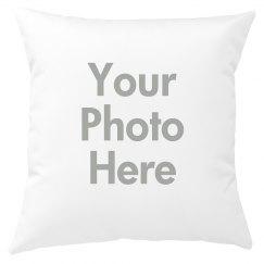 Custom Photo Upload Throw Pillow