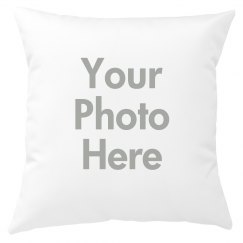 Custom Photo Upload Throw Pillow