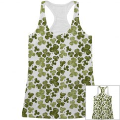 Shamrock Lucky All Over Print Tank