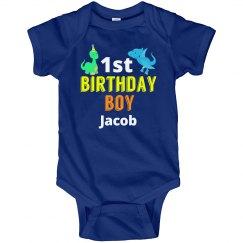 1st Birthday Boy Dinosaurs
