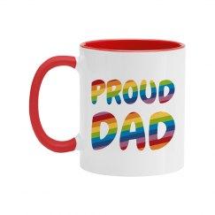 Cute Colorful Gay Pride Proud Dad