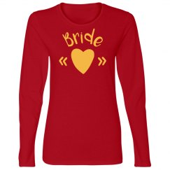 Bride Heart Tshirt