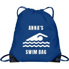 Ann's pull string swim bag