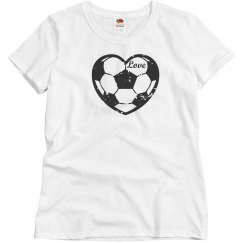 Love Soccer Ball Heart