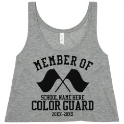 Color Guard Member Crop