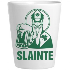 Slainte Irish Shot Glass St. Pat