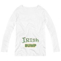Funny Irish Bump St Patricks Maternity Shirt