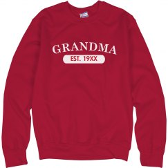 Custom Grandma EST. Sweater