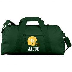 Jacob football duffle bag
