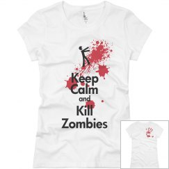 2 sided zombie shirt