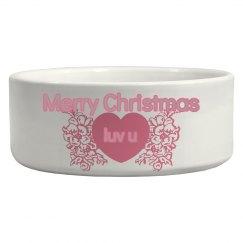 Pet Christmas bowl