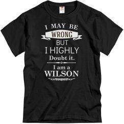 I am a wilson