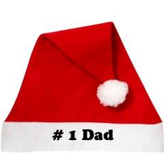 Number 1 Dad Santa Hat