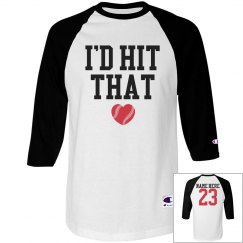 Funny Baseball Girlfriend With Custom Name Number