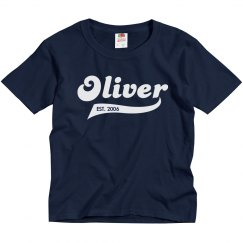 Oliver personalized shirt
