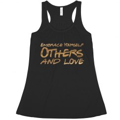 Embrace Yourself: Metallic Racerback Tank Top