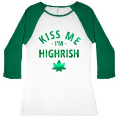 Green Metallic Highrish Raglan