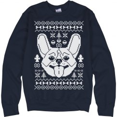 Navy Corgi Ugly Sweater