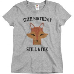 60th birthday still a fox