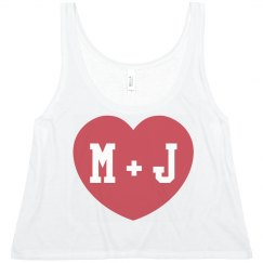 Custom Couple Initials Tank