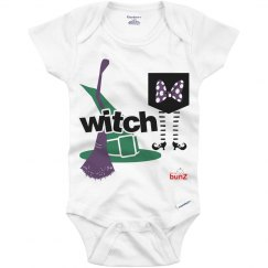 Infant girl witch onesie
