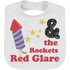 Patriotic Rocket Baby Bib