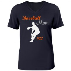 Baseball Rhinestone Mom